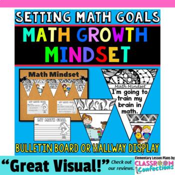 Math Mindset: Setting Math Goals with a Growth Mindset Bulletin Board