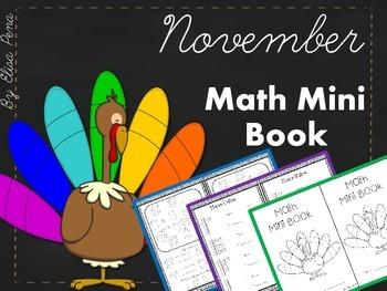 Math Mini Book - Month of November