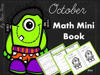 Math Mini Book - Month of October