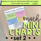 Math Mini Charts | Set 2 (Mini Anchor Charts)