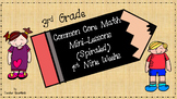 3rd Grade Common Core Math Mini-Lessons Weeks 1-9 (Growing
