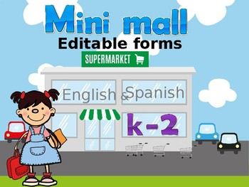 Math Mini Mall EDITABLE FORMS