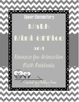 Math Mini Office for Upper Elementary- Black & White Version