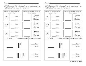 Math Mini Quizzes First Grade Common Core