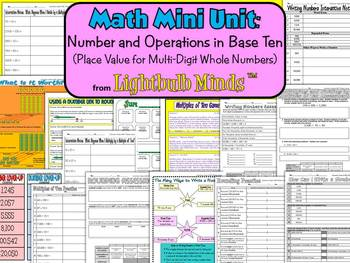 Math Mini Unit: Numbers & Operations (Place Value for Multi-Digit Whole Numbers)