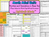 Math Mini Unit: Numbers & Operations (Place Value for Mult