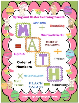 Spring Printables and Task Cards 347 problems