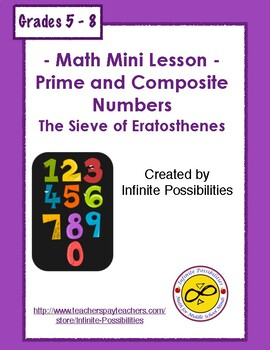 Prime and Composite Numbers The Sieve of Eratosthenes Activity
