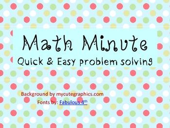 Math Minute