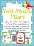 Math-Minute Filler (Task Cards)