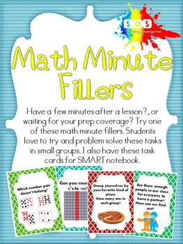 Math-Minute Filler (Task Cards)