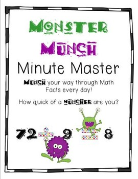 Math Minute Master - Munch Your Way through Math Facts!