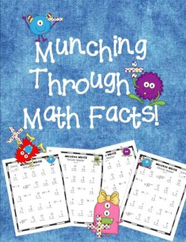 Math Minute Master - Munch Your Way through Math Facts!