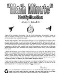 Math Minute Math Facts Sheets - Set #1 - Multiplication (x2-5)