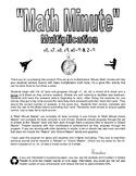 Math Minute Math Facts Sheets - Set #2 - Multiplication (x6-9)