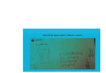 Math Misconceptions Common Core Grade 8