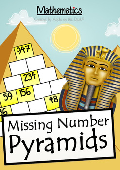 Math: Missing Number Pyramids