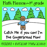 Math Mission- 1st Grade Measurement and Data- Catch the Gingerbread Man