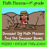 Math Mission-Escape Room-Dinosaur Dig 1st Grade Addition Subtraction within 20