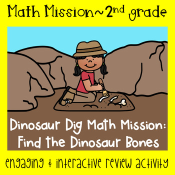 Math Mission-Escape Room-Dinosaur Dig  Adding and Subtracting Challenge