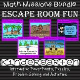 Math Mission - Escape Room - Kindergarten Bundle