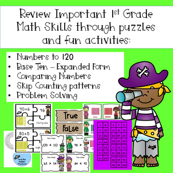 Math Mission-Escape Room-Pirates Adventure-1st Grade Base Ten~Teen Numbers