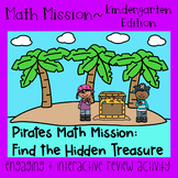 Math Mission-Escape Room-Pirates-Kindergarten~Teen Numbers~Counting to 20