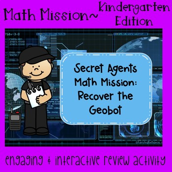Math Mission - Escape Room - Secret Agents - Geometry in Kindergarten