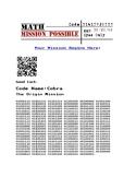 Math Mission Possible - Piggy Bank Mission #1