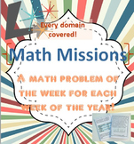 Math Missions - An Entire Year of 4th Grade Problem of the Week Booklets