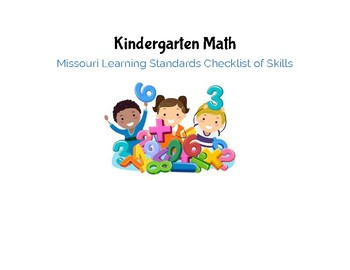 Kindergarten Math Missouri Learning Standards Checklist of Skills