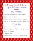 Math Mistakes Anchor Chart Bundle, Red Polka Dots
