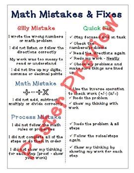 "Math Mistakes & Fixes (16""x20"") Printable Poster"