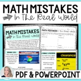 Math Mistakes in the Real World Activity