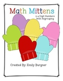 Math Mittens 3-4 Digit Addition and Subtraction with Regrouping Center
