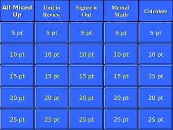 Math Mixed Skills Review Part I