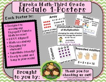 Eureka Math POSTERS Third Grade Module 1