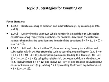 Math Module 1 Topics D, E, and F