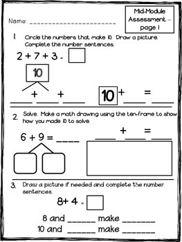 Math Module 2 Mid & End of Module Assessments