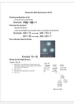 Math Module 2 Parent Cheat Sheet