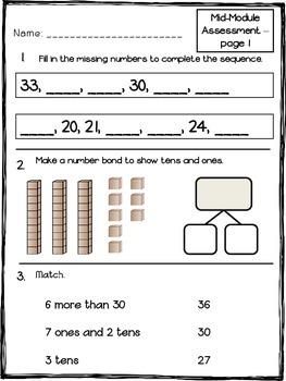 Math Module 4 Mid & End of Module Assessments