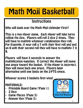Math Moji Basketball: Multiplication Game