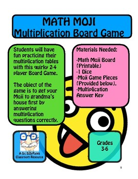 Math Moji: Multiplication Board Game