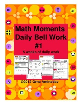 Math Moments Daily Bell Work Practice