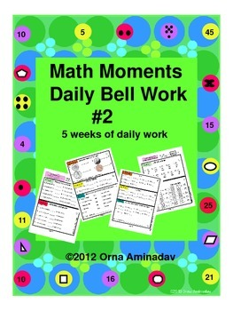 Math Moments Daily Bell Work Practice # 2