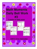 Math Moments Daily Bell Work Practice # 3
