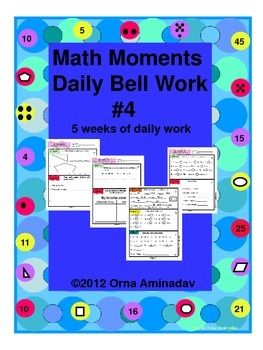 Math Moments Daily Bell Work Practice # 4