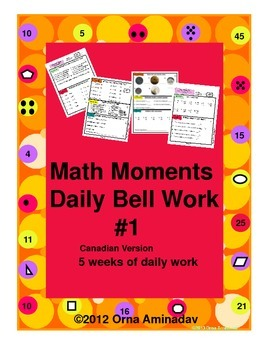 Math Moments Daily Bell Work Practice- Canadian Version