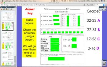 Math Monday Flipchart