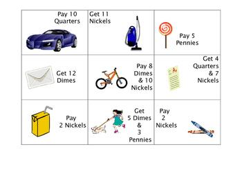 Math Money Game Cards